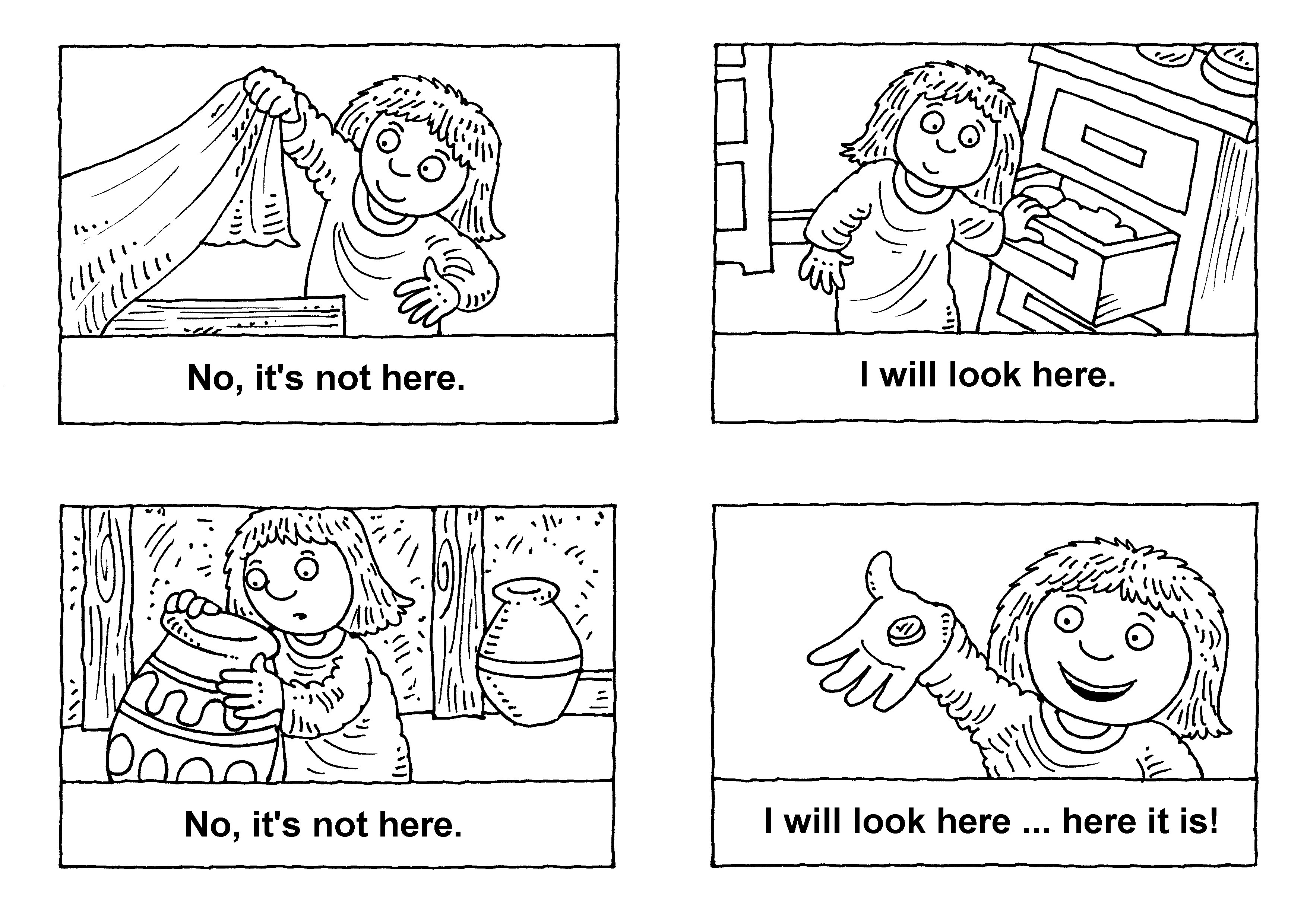 Animated Story Of The Lost Sheep Crafts Lost Coin Coloring Page